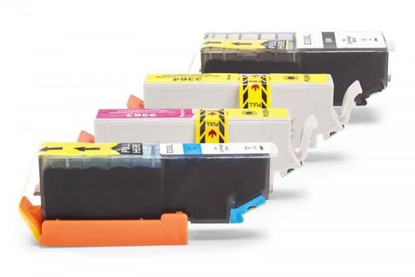 Alternativ zu Epson C13T33574011 / 33XL Tinten Spar-Set (Schwarz, Cyan, Magenta, Gelb)