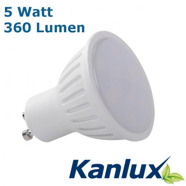 Kanlux®LED Strahler / Leuchtmittel, Länge 55 mm, Sockel GU10, Winkel 120º, 5W = 40W, 380 Lumen, 530