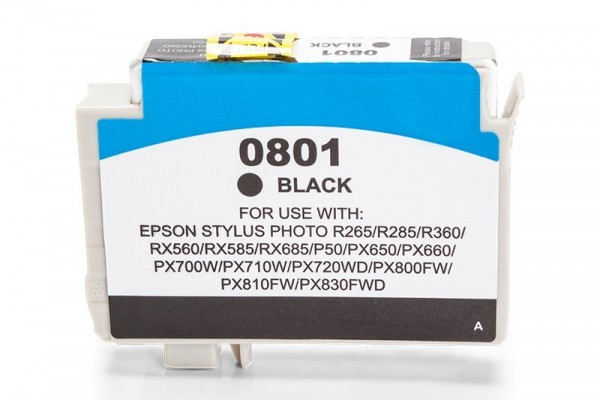 Alternativ zu Epson C13T08014010 / T0801 Tinte Black