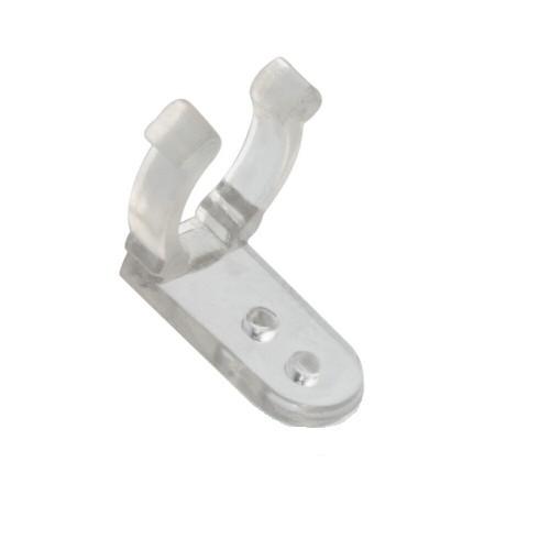 10 Stück Befestigungsklammern, Clip für Lichtschlauch aus transparentem Kunststoff für 13mm Lichtsch