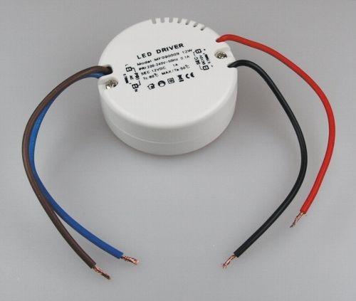 Chilitec® LED Trafo rund, kleine Bauform, für Unterputzdosen, Größe: Ø55 x 23 mm, mit 12 Volt Gleich