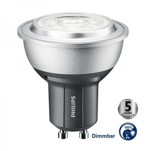 Philips® Master LED Strahler / Leuchtmittel dimmbar, Länge 55 mm, Sockel GU10, Winkel 40º, 4W = 35W,