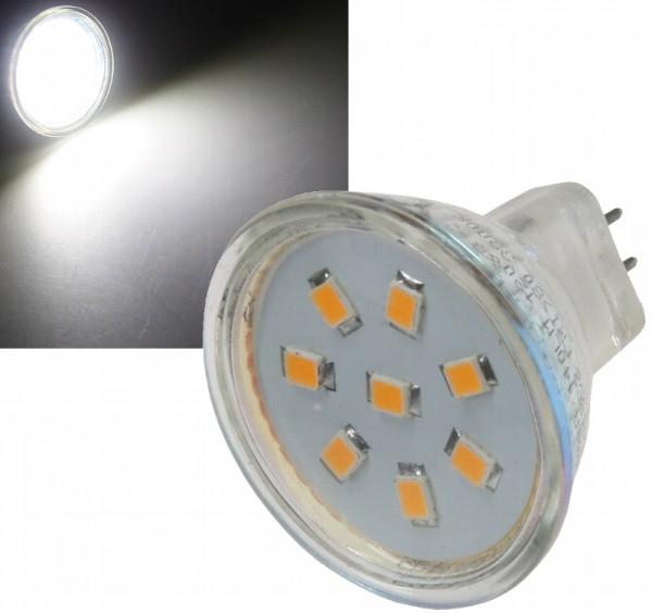 Chilitec®LED Strahler / Leuchtmittel, Länge 40 mm, Sockel MR11, Winkel 120º, 2W = 15W, 12V DC, 150