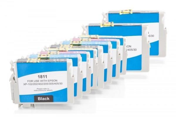 Alternativ zu Epson T1811-T1814/18 XL Tinten Spar-Set (BK,C,M,Y) 10 Stück
