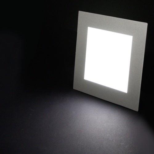 HEITRONIC® LED Panel Unterputz, Deckenpanel, Wandpanel, Gehäuse Aluminium, IP44, dimmbar, 184x184mm,