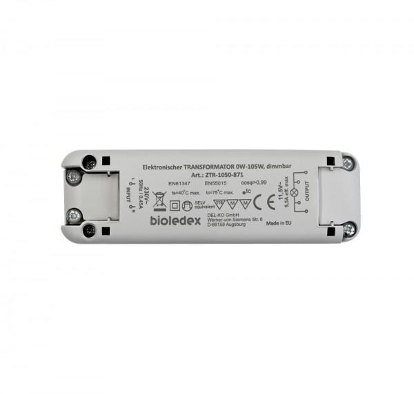 Bioledex® LED Trafo dimmbar, mit Überhitzungs-, Kurzschluss- und Überlastungsschutz, LxBxH: 118 x 36