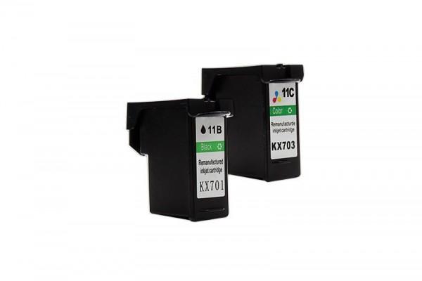 Alternativ zu Dell KX701+KX703 Tinten Multipack XXL (BK, CMY) 2 Stück