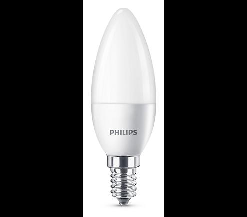 Philips® LED Leuchtmittel, Länge 106 mm, Sockel E14, Winkel 270º, 4W = 25W, 250 Lumen, 2700K warmwei
