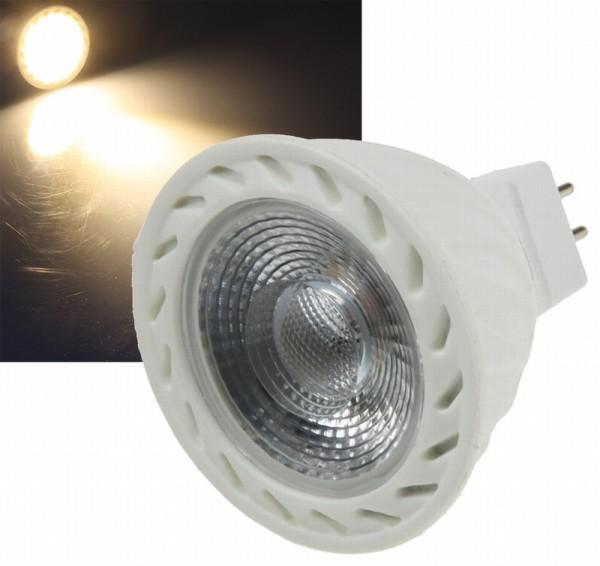 Chilitec®LED Strahler / Leuchtmittel, Länge 54 mm, Sockel MR16, Winkel 38º, 7W = 50W, 12V DC, 500 L