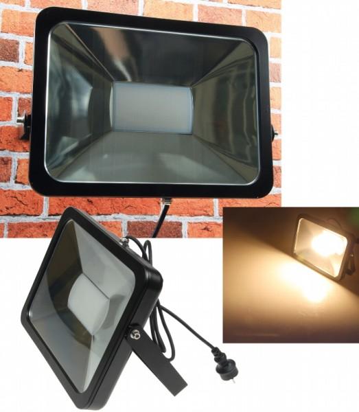 Chilitec® LED Fluter / Scheinwerfer Schutzklasse IP65 für den Außenbereich, 80 Watt, 5400 Lumen, 300