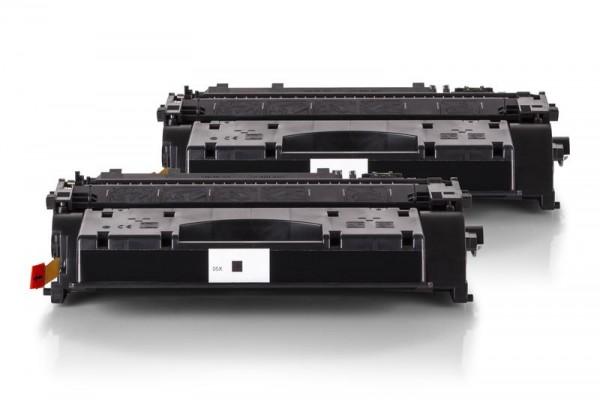 Alternativ zu HP CE505X / 05X Toner Schwarz Spar-Set (2 Stück)