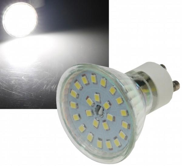 Chilitec®LED Strahler / Leuchtmittel, Länge 63 mm, Sockel GU10, Winkel 120º, 5W = 40W, 420 Lumen, 4