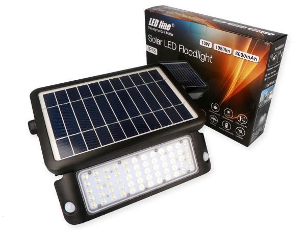 Solar LED Fluter / Scheinwerfer mit Bewegungsmelder Schutzklasse IP65 für den Außenbereich, mit Sola