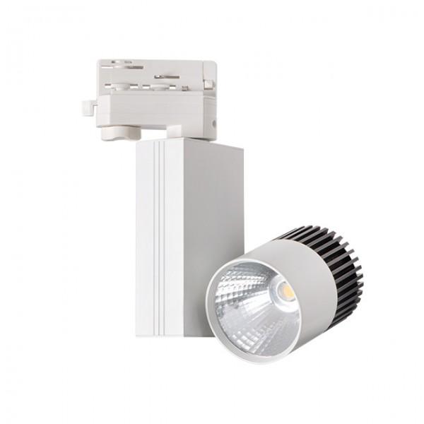 3 Phasen LED Strahler 20W = 1590 Lumen 4000K neutralweiß für 3 Phasen Schienensystem