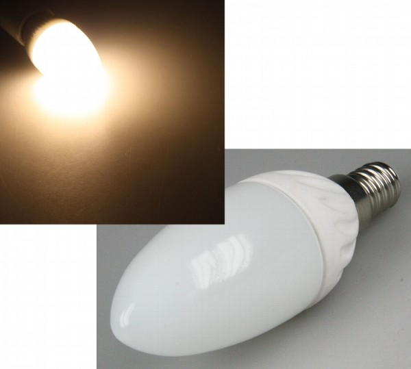 Chilitec® LED Leuchtmittel, Länge 97 mm, Sockel E14, Winkel 180º, 3W = 20W, 220 Lumen, 3000K warmwei