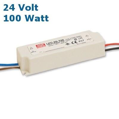 MEAN WELL® LED Trafo, mit kompakter Bauweise, IP67, LxBxH: 190 x 50 x 38 mm, 24 Volt Gleichstrom DC,