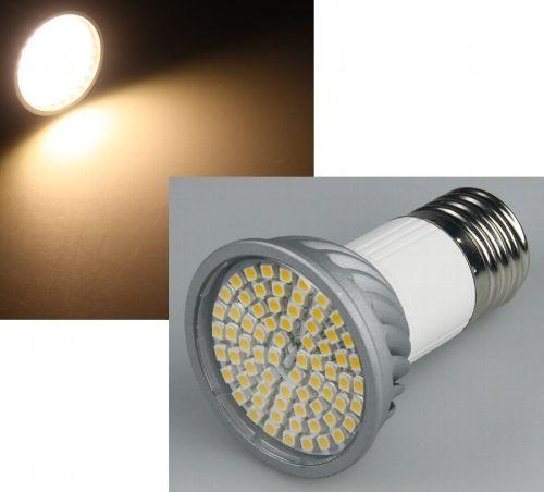 Chilitec® LED Strahler / Leuchtmittel, Länge 81 mm, Sockel E27, Winkel 120º, 5W = 35W, 385 Lumen, 30