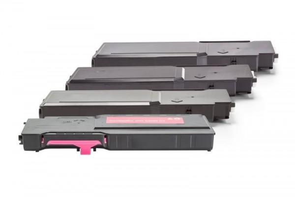 Alternativ zu Dell 593-BBBQ - 593-BBBR / Y5CW4 Toner Spar-Set Schwarz, Cyan, Magenta, Gelb (4 Stück)