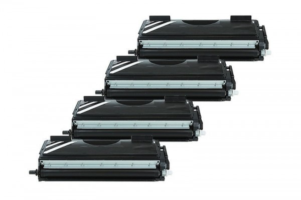 Alternativ zu Brother TN-7600 XXL Toner Black Spar Set (4 Stück)