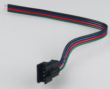 RGB Buchse 4 polig mit offenen Kabelenden (15cm) für RGB LED Stripe Verbinder