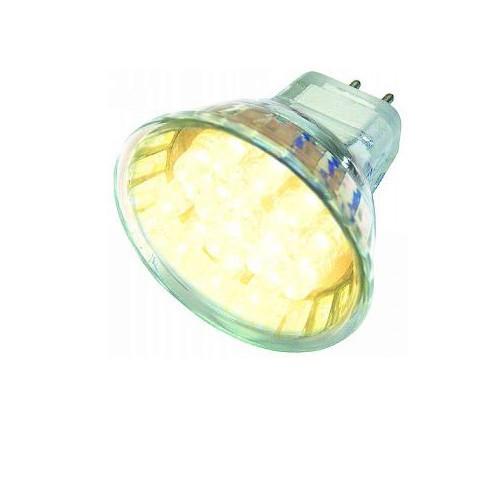 LED Strahler / Leuchtmittel, Länge 55 mm, Sockel MR16, Winkel 120º, 1,2W = 8W, 12V AC+DC, 75 Lumen,
