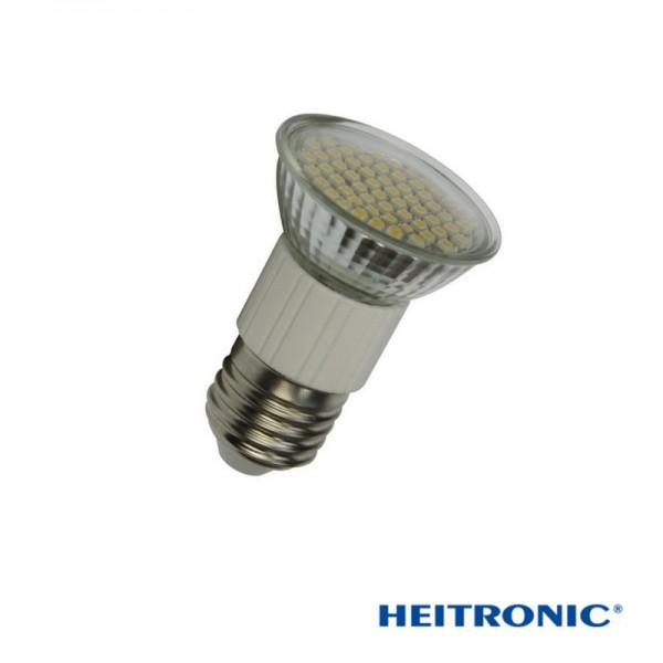 Heitronic® LED Strahler / Leuchtmittel, Länge 72 mm, Sockel E27, Winkel 120º, 3W = 20W, 180 Lumen, 2