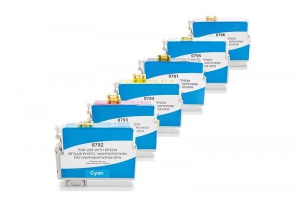 Alternativ zu Epson T0791-T0796 Tinten Spar-Set (BK,C,M,Y,LC,LM) 6 Stück