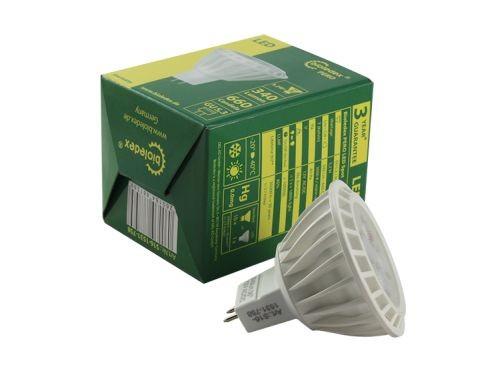 Bioledex® PERO LED Strahler / Leuchtmittel, Länge 52 mm, Sockel MR16, Winkel 36º, 5,2W = 35W, 12V AC