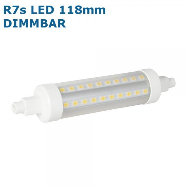 Bioledex®VEO LED Strahler / Leuchtmittel dimmbar, Länge 118 mm, Sockel R7s, Winkel 360º, 8W = 50W,
