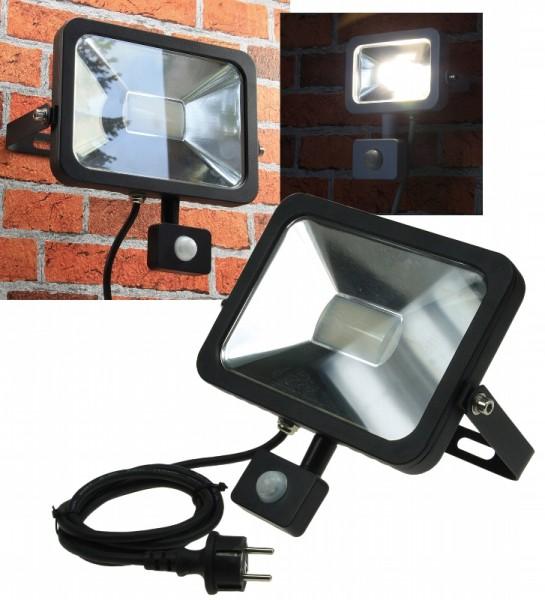 Chilitec® LED Fluter / Scheinwerfer mit Bewegungsmelder, Schutzklasse IP44 für den Außenbereich, 30