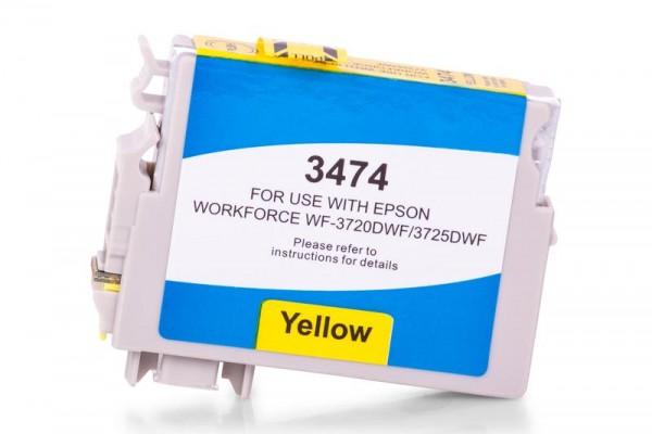 Alternativ zu Epson C13T34744010 / 34XL Tinte Gelb XL