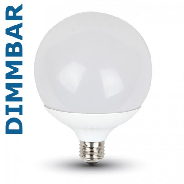 V-TAC® GLOBE LED Leuchtmittel dimmbar, Länge 158 mm, Sockel E27, Winkel 200º, 13W = 90W, 1055 Lumen,