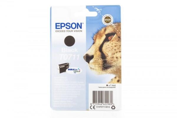 Original Epson C13T07114010 / T0711 Tinte Black