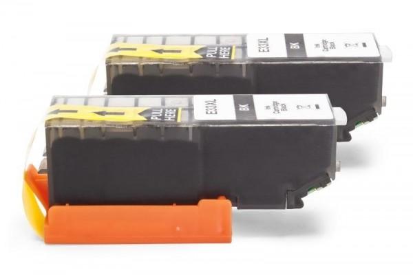 Alternativ zu Epson C13T33514010 / C13T33514012 / 33 XL Tinte Black Doppelpack
