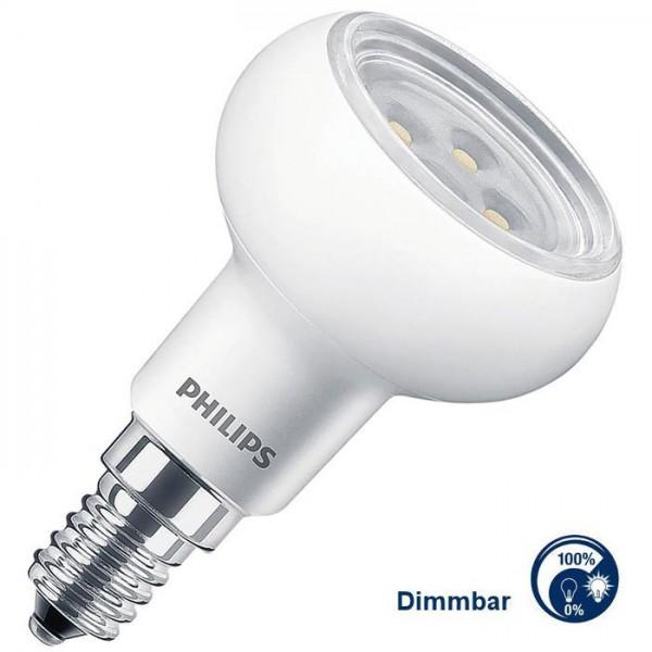 Philips® R50 LED Strahler / Leuchtmittel dimmbar, Länge 85 mm, Sockel E14, Winkel 36º, 5 Watt = 60