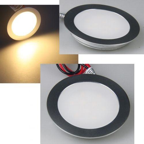 Chilitec® LED Panel Unterputz, Deckenpanel, Wandpanel, Gehäuse Aluminium matt, Ø55x12mm , 0,5 Watt,