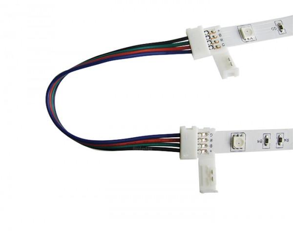 RGB Verbinder / Kabel mit 2 Schnellverschlüssen und 15cm RGB Verbinderkabel (4 Litzen)