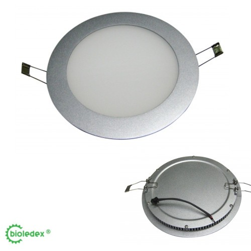Bioledex® LED Panel Unterputz, Deckenpanel, Wandpanel, Gehäuse Aluminium, Ø240mm, 16 Watt, 1200 Lume