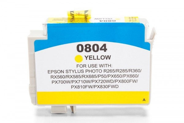 Alternativ zu Epson C13T08044010 / T0804 Tinte Yellow
