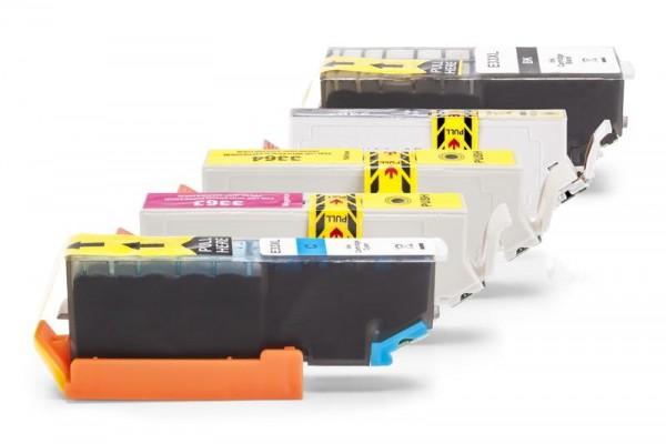 Kompatibel zu Epson C13T33614010 / 33 XL Spar-Set (Schwarz, Foto Schwarz, Cyan, Magenta, Gelb)