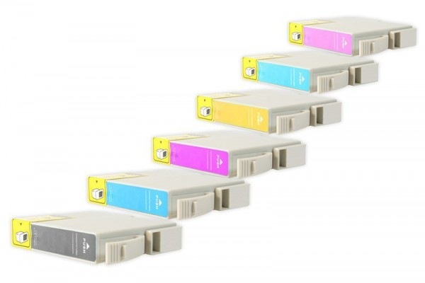 Alternativ zu Epson T0331-T0336 Spar-Set (je2xBK,C,M,Y+LC,LM) 10 Stk.