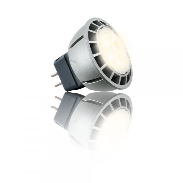 Heitronic® LED Strahler / Leuchtmittel, Länge 50 mm, Sockel MR16, Winkel 36º, 6W = 30W, 12V AC, 300