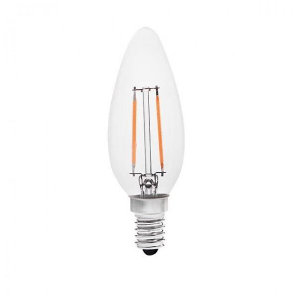 Kanlux® LED Leuchtmittel, Länge 98 mm, Sockel E14, Winkel 300º, 2W = 20W, 200 Lumen, 3000K warmweiß